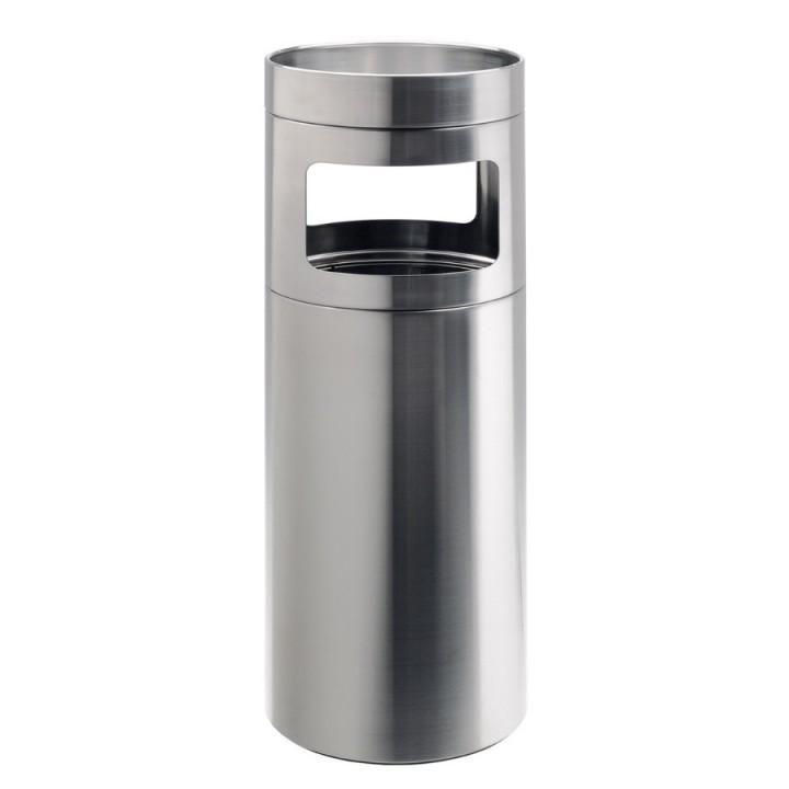 Nox - Posacenere da terra con cestino gettacarte