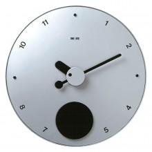 Contrattempo - Finitura alluminio - Orologio a pendolo da parete