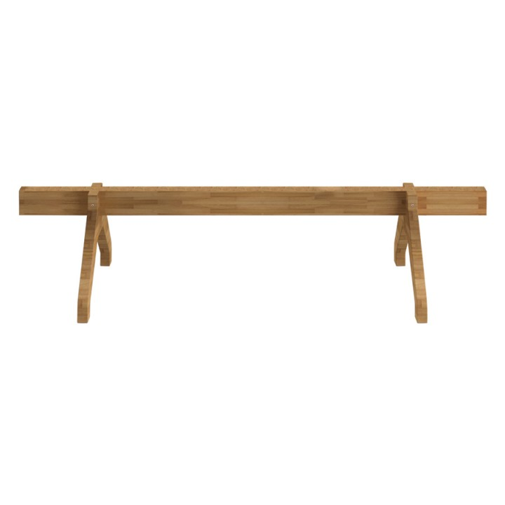 Olivia Wood Beam - Hanging rail with legs for seats and tables