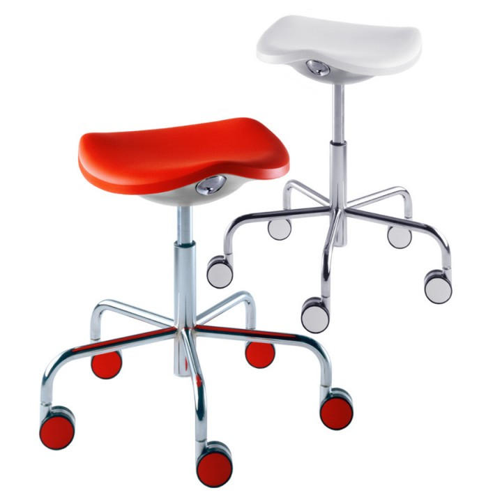 Welcome - Stool on castors with gas lift adjustable height