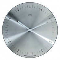 Orario - Stainless steel face without numbers - Wall clock