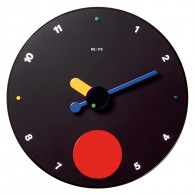Contrattempo - Black - Pendulum wall clock